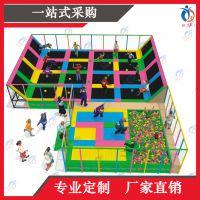 上海聚巧游乐厂家定制大型主题蹦床公园魔鬼滑梯组合