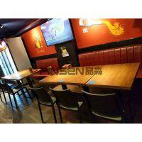 新款中式钢化玻璃火锅桌 老火锅桌 可定做火锅餐桌椅组合 现代中式