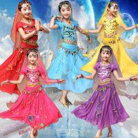 儿童印度舞演出服女童肚皮舞表演服少儿新疆舞民族舞台服女舞蹈服