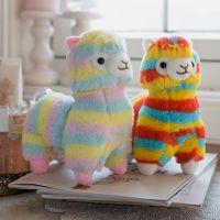 日本彩虹羊驼公仔可爱女生萌小羊毛绒玩具情人节礼物少女心玩偶