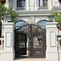 厂家定制直销小区豪宅铝合金铝艺庭院门欧式别墅围墙大门