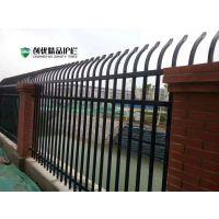 厂家直销锌钢防爬护栏围栏围墙 单弯铁艺护栏