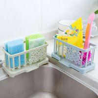 放钢丝球的厨房沥水子收纳盒洗碗池洗菜盆抹布控水篮子壁挂清洁