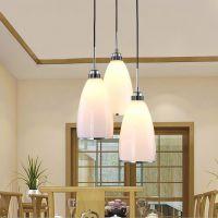 餐厅灯吊灯三头led现代简约创意灯具吧台卧室客厅单头灯饰餐吊灯