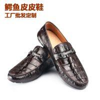 广州四季款鳄鱼皮鞋男士真皮休闲皮鞋纯手工皮鞋工厂加工一件代发