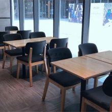 昆明西餐厅实木软包椅子定做,西式餐厅桌子厂家直销