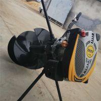 拖拉机挖坑机 果园施肥钻眼机 普航牌9马力汽油打孔机
