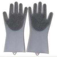 抖音硅胶洗碗手套魔术加厚 多功能女厨房家务清洁防水刷碗神器
