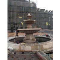 石雕喷泉奥特曼埃及米黄白玉兰大理石喷泉厂家直销定制加工