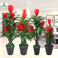 仿真树鸿运当头盆栽植物发财树客厅摆设大防真花室内绿植装饰假花