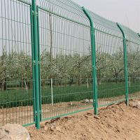 双圈护栏网 锌钢防护栏 仓库铁丝网隔离栅