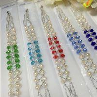 新品 淡水珍珠水晶间隔双排手链 厂家直销 展销会销售款 批发