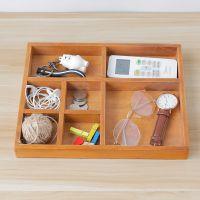 zakka创意杂货首饰化妆品木盒桌面杂物收纳盒多功能杂物木质收纳
