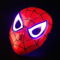 儿童卡通万圣节派对发光面具 蜘蛛侠发光美队扮演装扮玩具批发