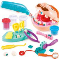 新款拔牙玩具儿童小小牙医理发师彩泥橡皮泥工具模具套装粘土热销