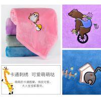 婴儿毛毯宝宝小毯子儿童双层珊瑚绒盖毯夏季幼儿园薄款小孩午睡毯