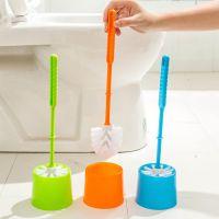 加厚塑料带底座马桶刷套装 厕所刷清洁刷 创意软毛马桶刷架