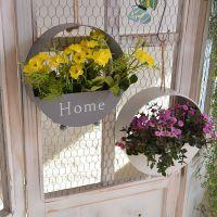 室内装饰餐厅装饰墙壁铁艺挂件客厅卧室铁艺圆形花架壁挂花篮套装