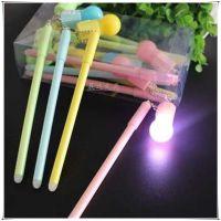 韩版创意可擦灯泡笔学生办公文具 发光灯泡挂件中性笔 批发