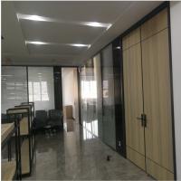 高隔断办公室玻璃隔断双层百叶钢化玻璃隔断厂房隔断装修隔墙 双玻百叶玻璃隔断免费上门设计