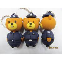 光头强大熊二熊迷你PVC软胶钥匙扣 布朗熊钥匙扣 广告促销品赠品