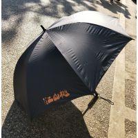 全纤维高尔夫伞半自动长柄伞直杆广告伞黑胶直杆商务伞广告伞定制