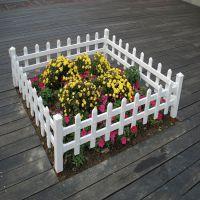 小区pvc草坪护栏 绿化带隔离栏 pvc阳台塑钢护栏厂家现货30-60cm