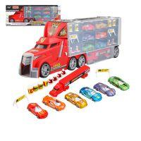 喜华YF8600热销批发货柜合金车模型套装 带灯光音乐益智儿童玩具