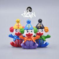 厂家定做马戏团小丑模型手办小号迷你摆件可爱卡通动漫Q版塑胶