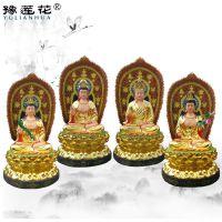 寺庙供奉道教神像药师七佛、弥勒佛、提婆菩萨玻璃钢佛像