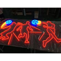 上海丽雨LED霓虹灯标识标牌足球造型
