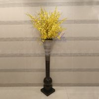 室内装饰玻璃钢创意彩绘渐变艺术花瓶工艺品雕塑电视柜背景墙摆件