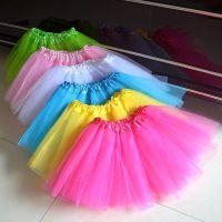 儿童舞蹈裙 网纱裙 半截芭蕾纱裙 六一女童松紧表演短裙厂家直销