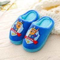 儿童居家棉拖鞋男童女童防滑保暖棉鞋宝宝小孩包跟室内拖鞋冬天