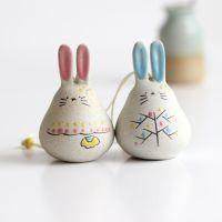 厂家批发乖乖兔子陶瓷风铃挂饰创意日式景德镇陶瓷工艺品景区热卖