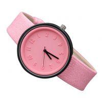 新款帆布纹皮带立体数字刻度手表女款 韩版学生手表 淘宝爆款批发
