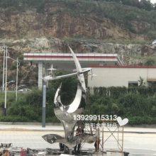 造型5米高不锈钢精神堡垒雕塑制作厂家 地产公司精神堡垒形象标志牌