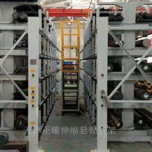山西放棒料用的货架 伸缩式管材货架报价
