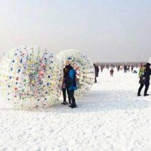 冬季草地充气悠波球多少钱一个 雪地悠波球批发价格