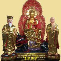河南善缘佛像厂直销玻璃钢树脂彩绘贴金地藏王菩萨佛像
