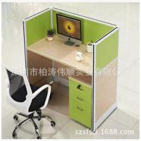 深圳办公室屏风隔断卡位 电脑桌工作位 公司办公台 厂家直销定做