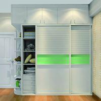 卧室现代简约整体大衣柜衣橱 烤漆板式移门衣柜推拉门衣柜定制