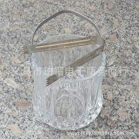 厂家直销酒吧KTV用品透明水晶玻璃冰桶红酒桶香槟桶冰块桶