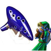 塞尔达传说时光笛陶笛12孔中音C调陶瓷笛子和底托 彩盒绳子