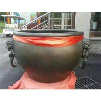 纯铜大缸-池州铜大缸-茂来雕塑