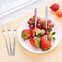 2014 创意餐具不锈钢水果叉儿童水果签 西餐小叉子蛋糕叉