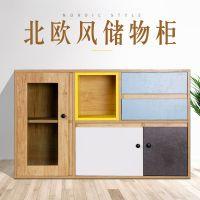 美学大师2018新款原创北欧风卧室客厅置物架木柜收纳柜储物柜厂家直销一件代发