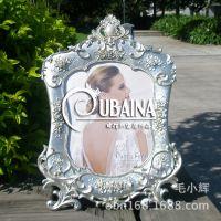 10寸银色复古创意欧式奢华相框影楼专用相架田园家居摆台个性相框
