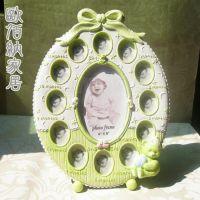 绿色宝宝相框欧式田园婚纱照片相架宫廷摆饰英伦风格创意礼品简约
