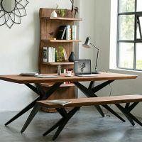 美式loft复古电脑桌书桌办公会议桌椅实木餐桌椅组合设计师长条桌